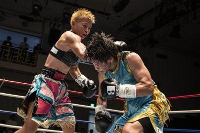花形冴実選手(左)
